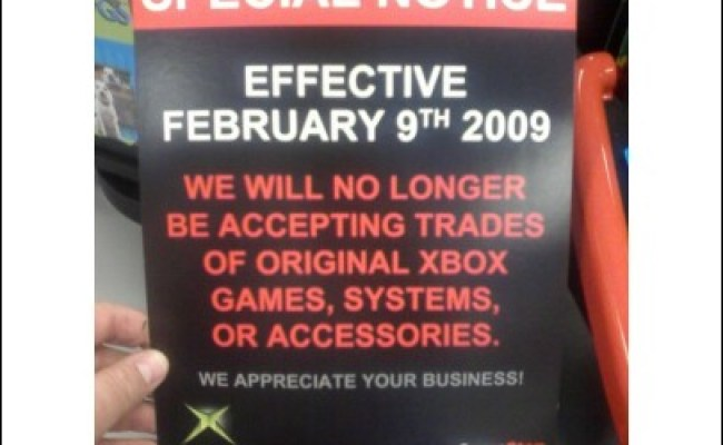 Gamestop No More Original Xbox Trade Ins From February 9