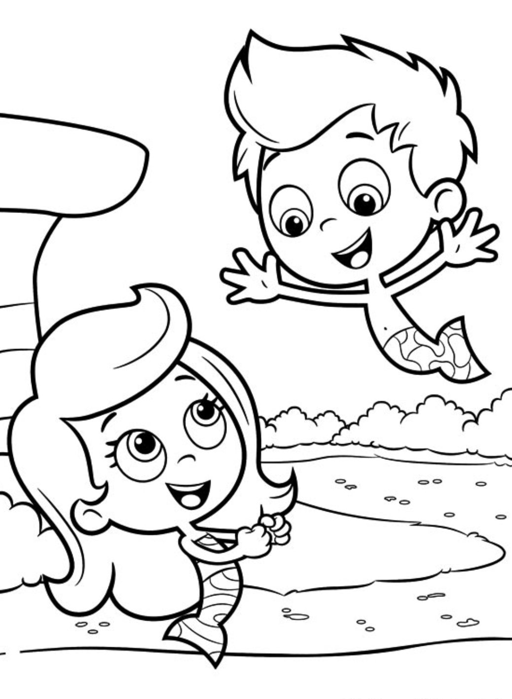 Bubble Guppies Coloring Page - Bubble Guppies Coloring Pages ... | 1418x1038