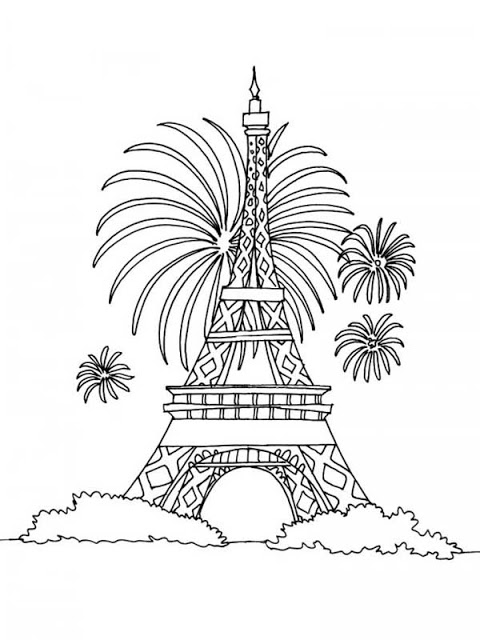 eiffel tower coloring pages # 39