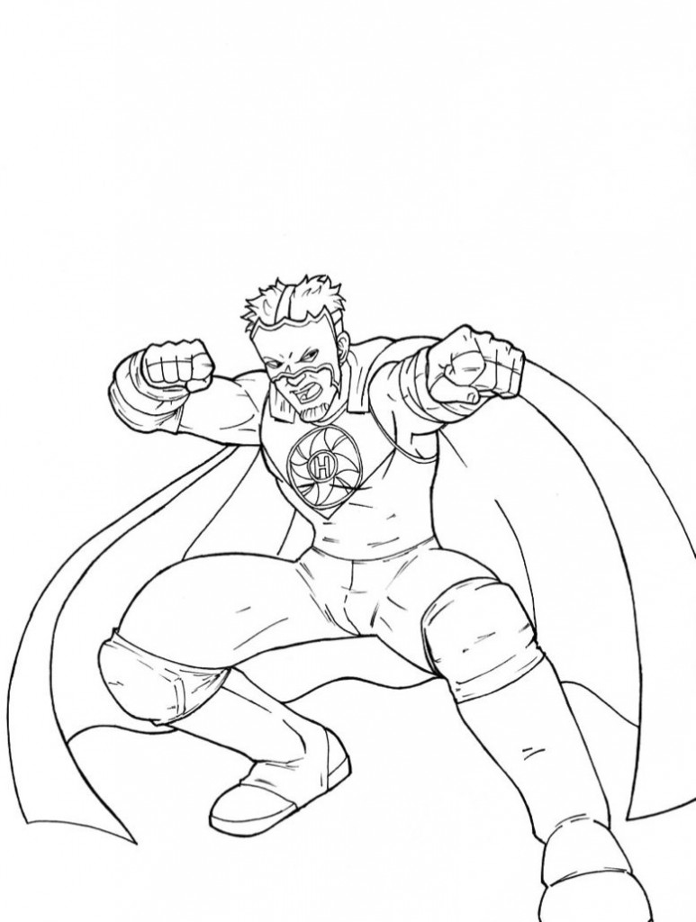 Wwe Coloring Pages 360coloringpages