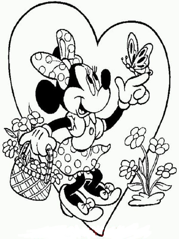 Minnie Mouse Coloring Pages 360ColoringPages