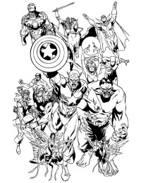 Avengers Coloring Pages | 360ColoringPages