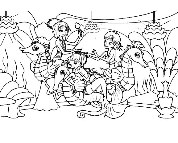 Seahorse Coloring Pages 360coloringpages