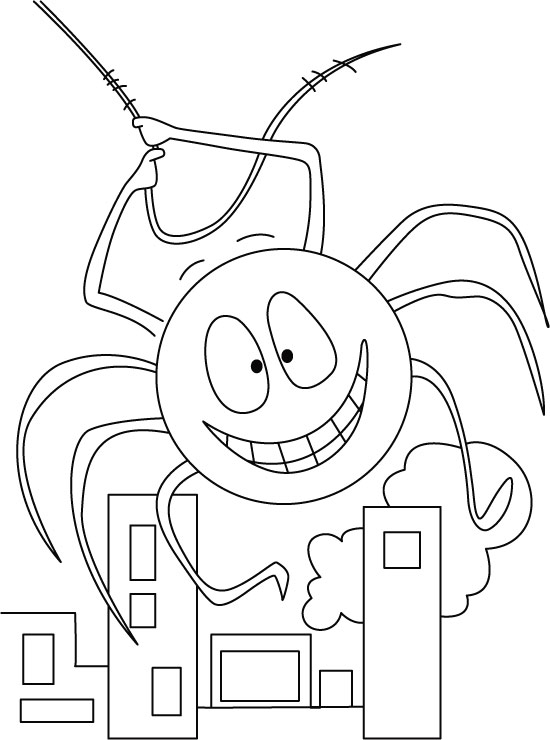 Car Track: Anansi The Spider Coloring Pages