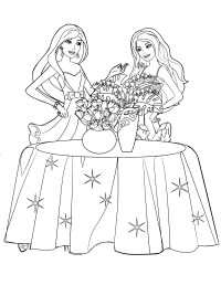 Ausmalbilder Barbie Weihnachten Kostenlos Barbie Coloring Pages