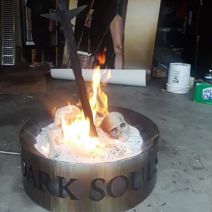 Damnnnnnnn dude this is dedication .... he made a Dark Souls bonfire. Whose up f