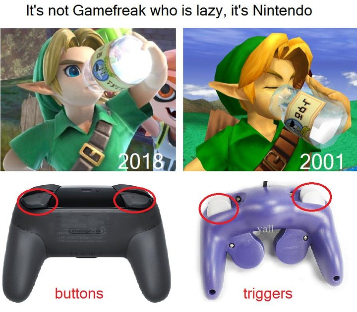 Gamefreak taking the blame for being lazy....it's Nintendo that's been lazy. Mar 2