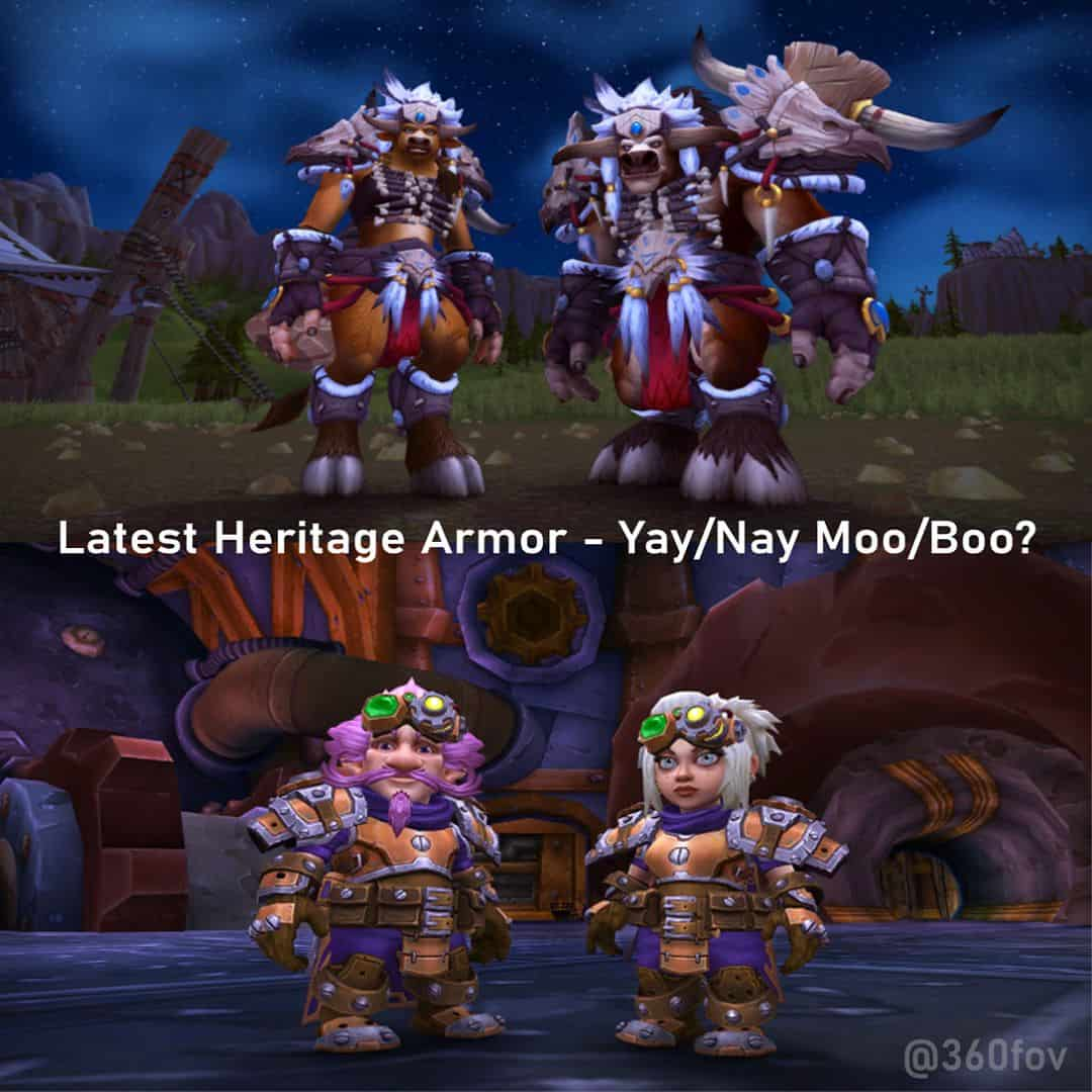 Tbf, Yay/Moo from me. Heritage Armor Looks alright. . . .             . . . . *