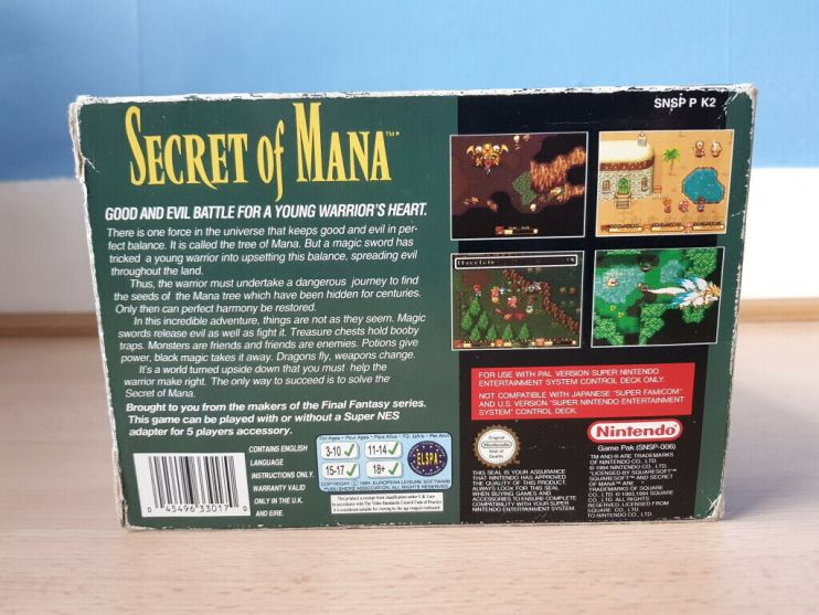 Secret of Mana - Complete Nintendo Power Guide 16 JRPG, Magazine, Nintendo Power, Secret of Mana
