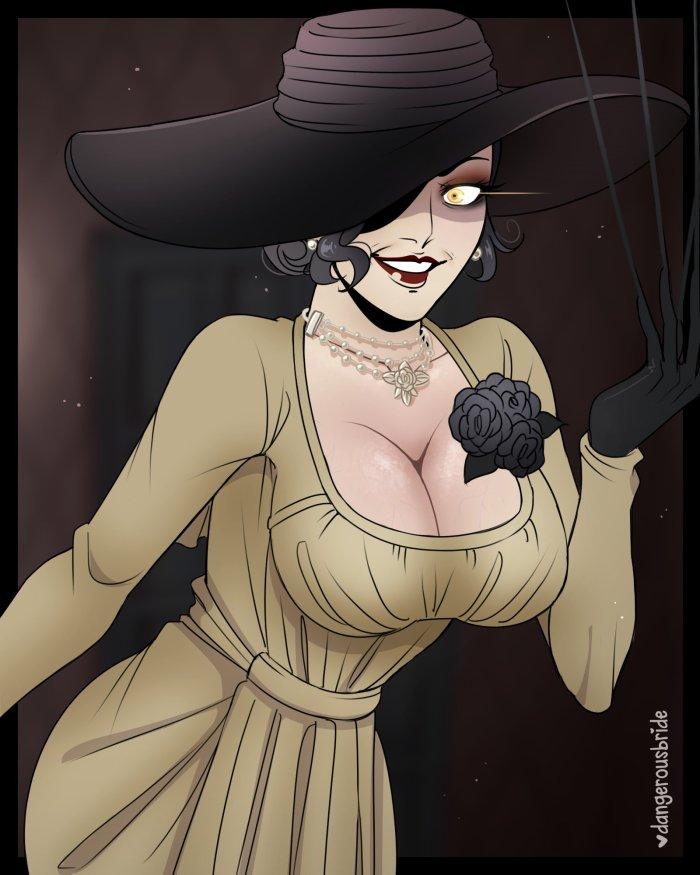Resident Evil 8 The Village Screens, 3D Models and Fan Art 7 lady dimitrescu, lady dimitrescu cosplay, lady dimitrescu hot, resident evil 8