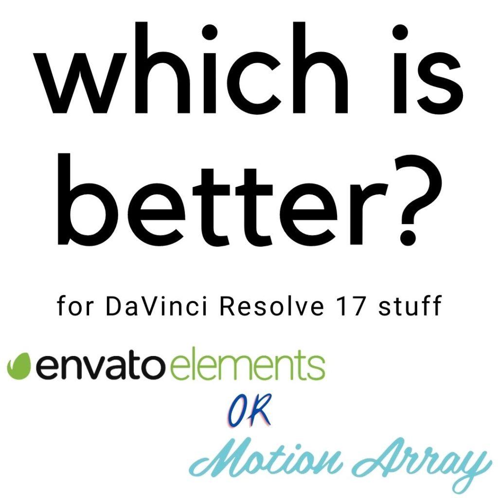 Motion Array vs Envato Elements for DaVinci Resolve Assets (2021) 1 Envato Elements
