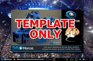 360Rize 360 Video Player Template ONLY