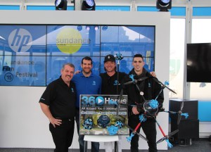 The 360Heros team following CEO Michael Kintner's presentation at the HP Sundance House.