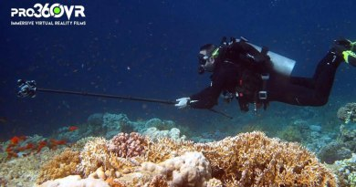 Jonny Simpson-Lee of Pro360VR shooting in the Red Sea.