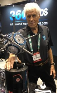 NOGI award-winning diver Bill Macdonald helped demonstrate the 360Abyss at the 360Heros booth.