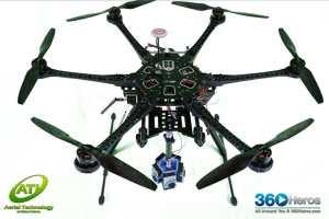 360RIZE Pro6L v2 360° Plug-n-Play Rig for GoPro HERO4/3+/3