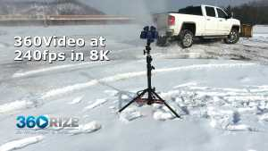 240FPS HEVC H.265 360 Video using Pro10 gear from 360Rize