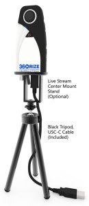 360 Penguin Full Setup with Tripod Live Mount Stand 500x1155