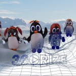 360Rize 360Penguin Wire Frame Image