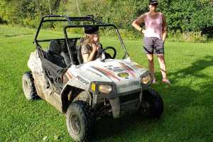 360Rize Renee and Laura Mudding with ATV and 360Penguin