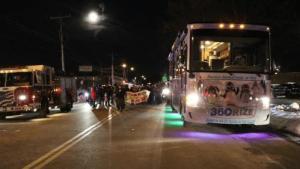 360Rize 360Penguin Bus at Santa Clause Lane Parade
