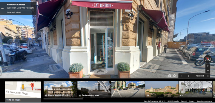 Google Maps Street View Romeow Cat Bistrot