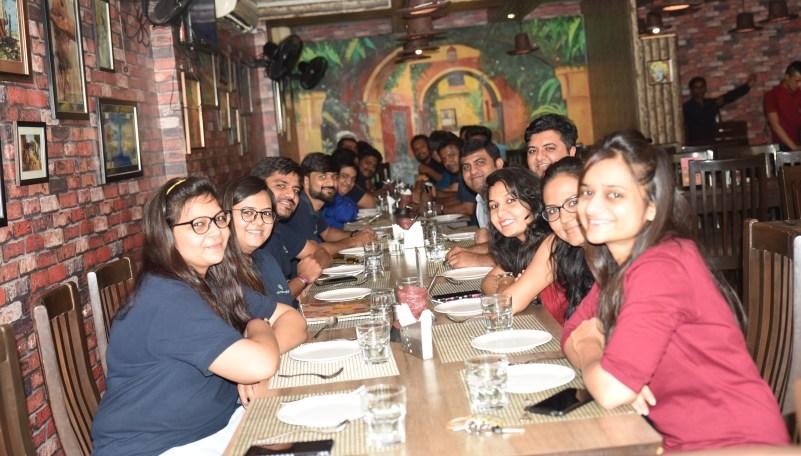 lunch with 360 technosoft team
