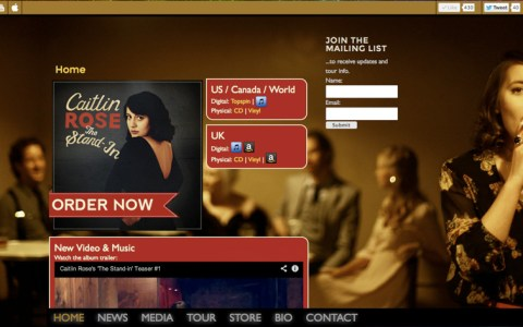 TheCaitlinRose.com - Home page