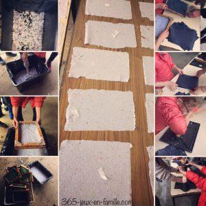 fabriquer du papier recyclé maison