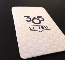 Photo du dos des cartes de 365 le jeu prototype