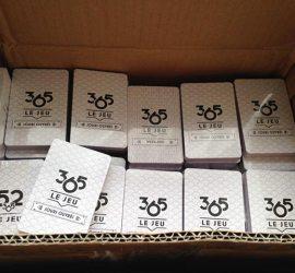 photo paquets de cartes 365 carton de livraison