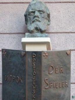 Büste am Dostojewski-Haus in Baden-Baden. © Foto: akr