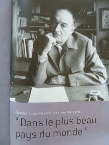 Jean Vilar auf dem Titelblatt einer Theaterzeitschrift.