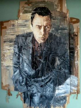 Camus-Porträt von Oliver Jordan im Kunsthotel Arte Luise in Berlin. ©Foto: akr