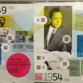 Camus digital. Ausstellung auf der Frankfurter Buchmesse. ©Foto: Anne-Kathrin Reif