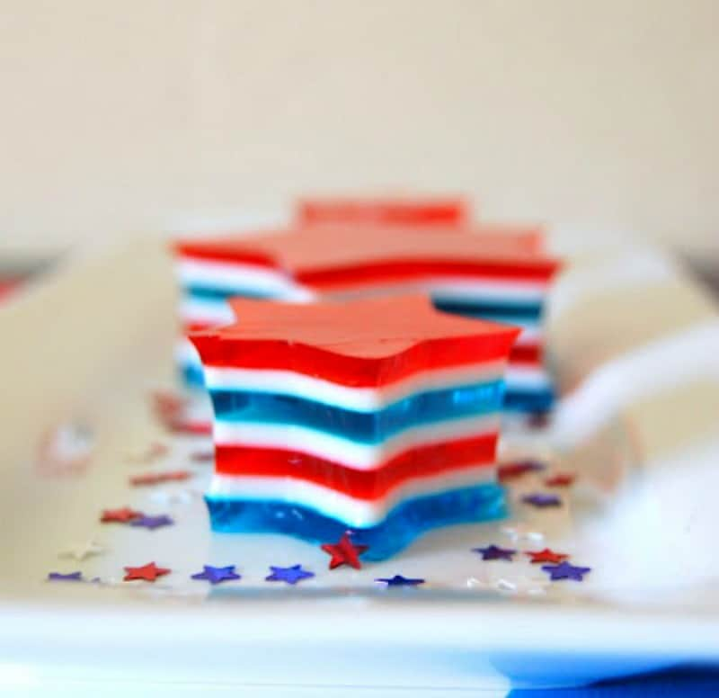 Patriotic Jello-O Stars {365 Days of Baking}