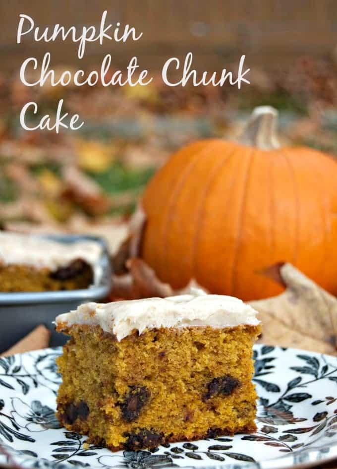Pumpkin Chocolate Chunk Cake {365 Days of Baking}