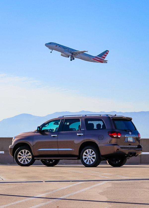 2019 Toyota Sequoia Platinum at Sky Harbor Airport in Phoenix, AZ.