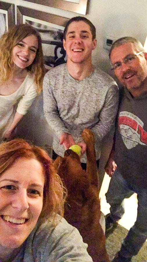 Lynne Feifer of 365 Days of Baking and her family.