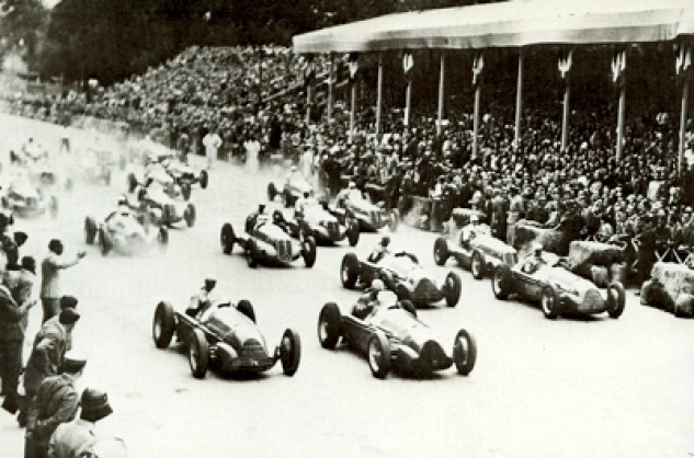 The start of the 1946 Turin Grand Prix