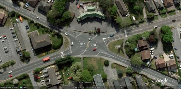 Britain's first double mini roundabout was installed at Upton Cross in Dorset.