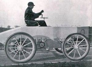 Comte de Chasseloup-Laubat - Jeantaud electric car - December 1898