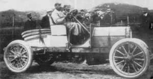 Allesandro Cagno winner the inaugural Targa Florio in 1906 driving an Itala 35/40 HP for over nine hours averaging 29 mph.