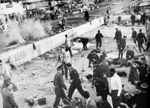 1955 Le Mans: dead and Injured in the grandstands after the accident