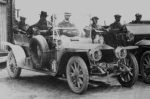 Rolls-Royce Silver Ghost AX201 at Cat and Fiddle Hill 22 June 1907 during the Scottish Reliability Trial.