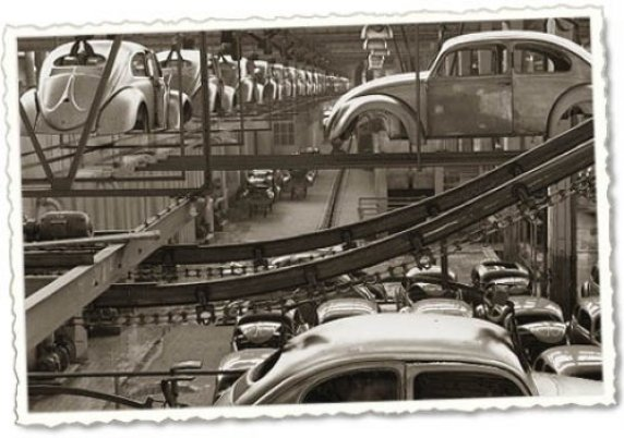 VW production line - 1957