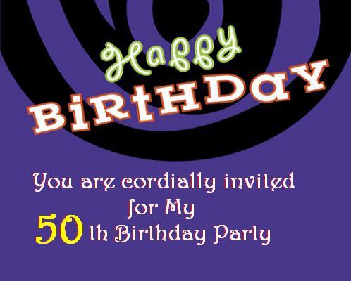50th Birthday Invitation Post Card From