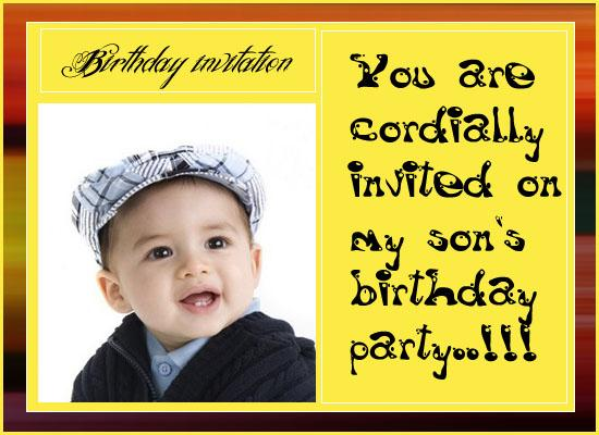 Birthday invitation sms for my son gallery invitation sample and first birthday party invitation sms cogimbo template baby girl 1st birthday free online invitations also stopboris stopboris Images