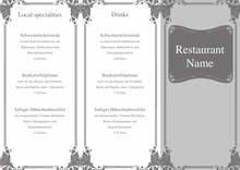 Vorlagen Speisekarten und Menkarten