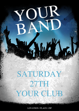 flyer indie band flyer template